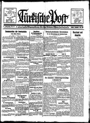 Türkische Post vom 06.05.1933