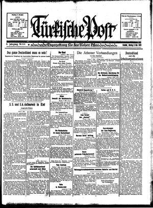 Türkische Post vom 08.05.1933