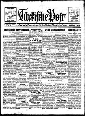 Türkische Post on May 9, 1933