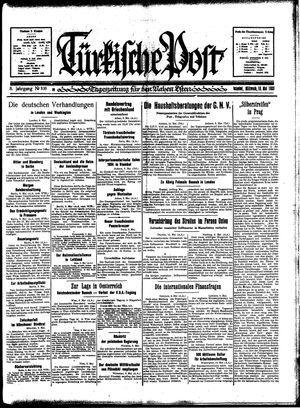 Türkische Post on May 10, 1933