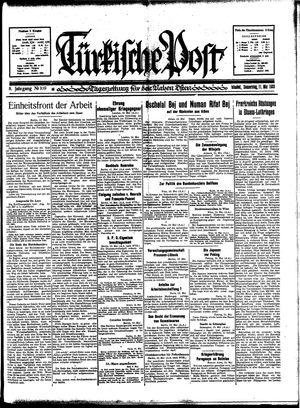 Türkische Post vom 11.05.1933
