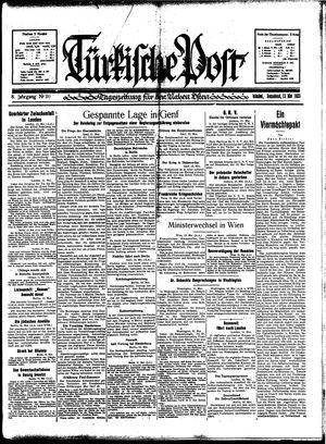 Türkische Post vom 13.05.1933
