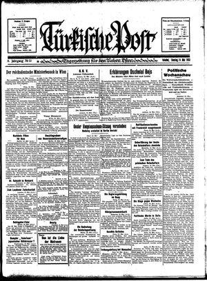 Türkische Post on May 14, 1933