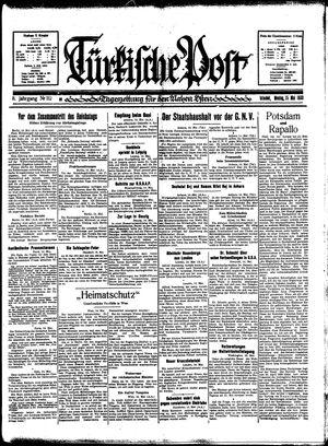Türkische Post vom 15.05.1933