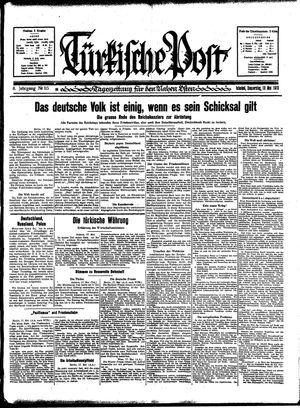 Türkische Post vom 18.05.1933