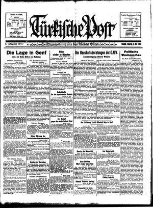 Türkische Post vom 21.05.1933