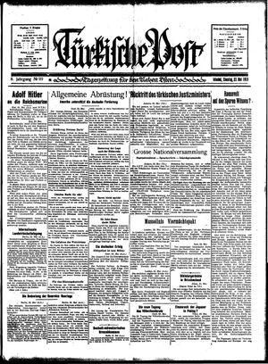 Türkische Post vom 23.05.1933
