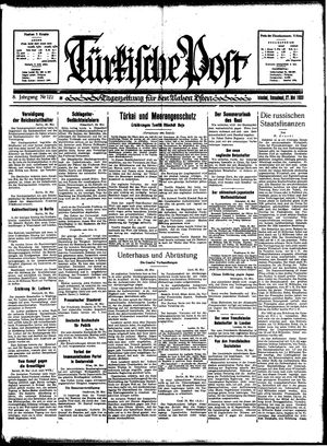 Türkische Post on May 27, 1933