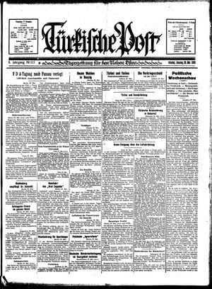Türkische Post vom 28.05.1933