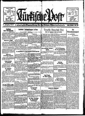 Türkische Post vom 31.05.1933