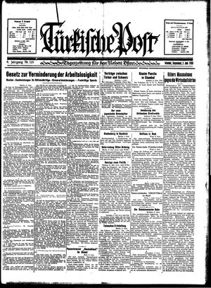 Türkische Post vom 03.06.1933