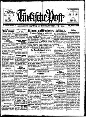 Türkische Post vom 07.06.1933