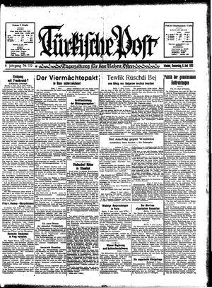 Türkische Post vom 08.06.1933