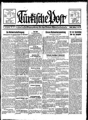 Türkische Post vom 13.06.1933