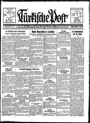 Türkische Post vom 14.06.1933