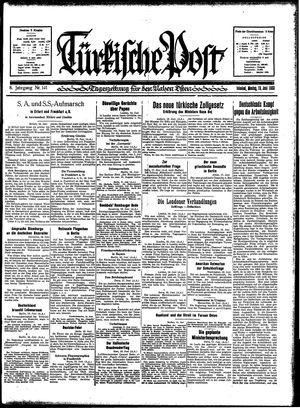 Türkische Post vom 19.06.1933