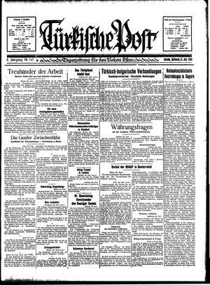 Türkische Post vom 21.06.1933
