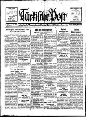 Türkische Post vom 29.06.1933