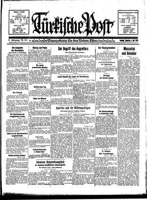 Türkische Post vom 04.07.1933