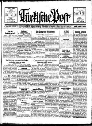 Türkische Post vom 05.07.1933