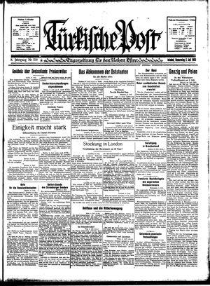 Türkische Post vom 06.07.1933