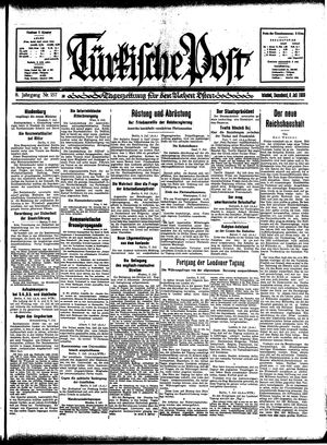 Türkische Post vom 08.07.1933