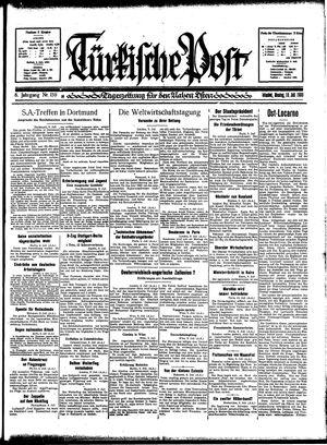 Türkische Post vom 10.07.1933