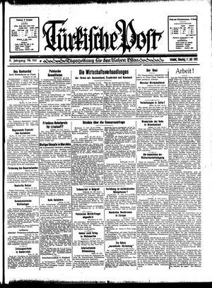 Türkische Post vom 11.07.1933