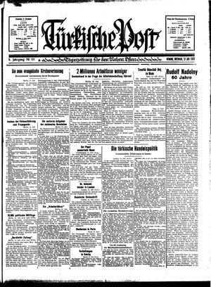 Türkische Post vom 12.07.1933