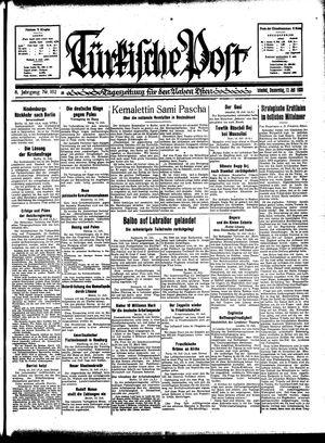 Türkische Post vom 13.07.1933