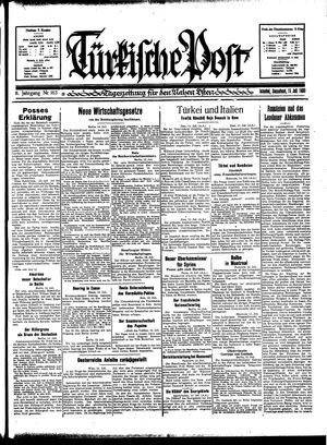 Türkische Post vom 15.07.1933