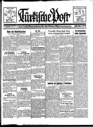 Türkische Post vom 17.07.1933