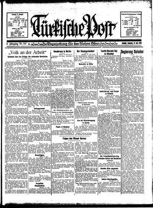 Türkische Post vom 18.07.1933
