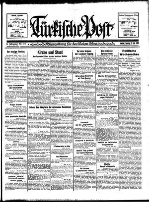Türkische Post vom 23.07.1933