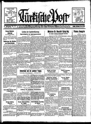 Türkische Post vom 26.07.1933