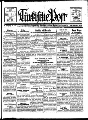 Türkische Post vom 27.07.1933