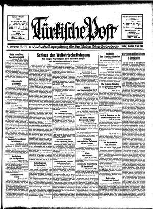Türkische Post vom 29.07.1933