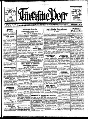 Türkische Post vom 30.07.1933