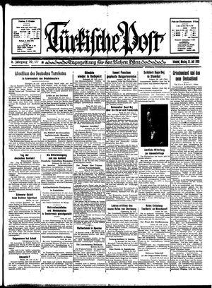 Türkische Post vom 31.07.1933