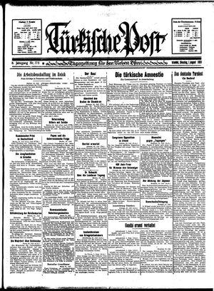 Türkische Post vom 01.08.1933