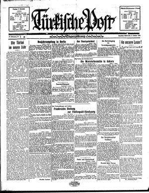 Türkische Post vom 02.01.1935