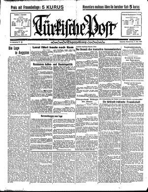 Türkische Post vom 03.01.1935