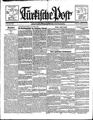 Türkische Post vom 05.01.1935