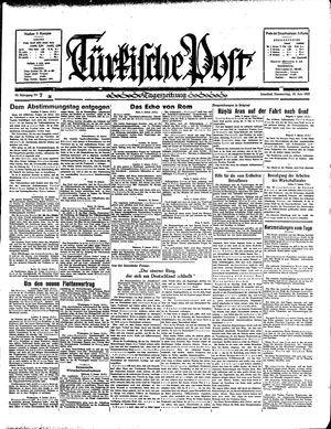 Türkische Post vom 10.01.1935