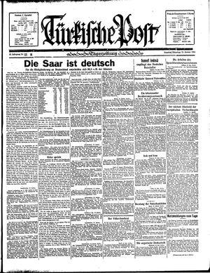Türkische Post vom 15.01.1935