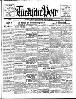 Türkische Post vom 16.01.1935