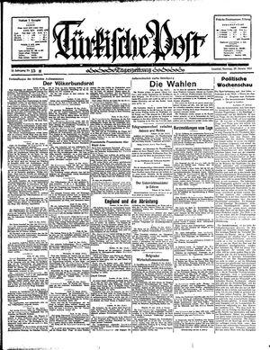 Türkische Post vom 20.01.1935