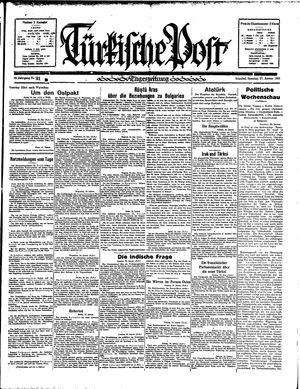 Türkische Post vom 27.01.1935