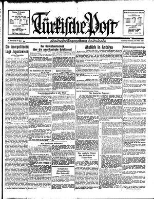 Türkische Post on Feb 19, 1935