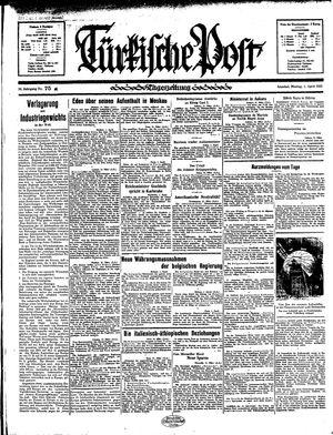 Türkische Post vom 01.04.1935